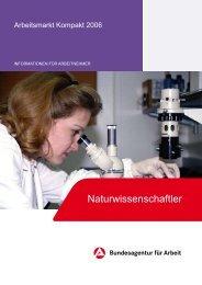 Arbeitsmarkt Kompakt 2006 - Naturwissenschaftler