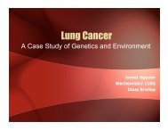 Lung Cancer - A Case study of Genetics and ... - Biochemistry 118