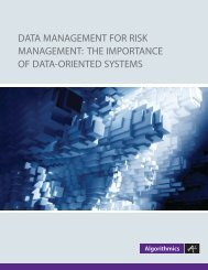 Data Management for Risk Management: the ... - ATMonitor