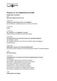 Program, fri- och rättighetsinternat 2009 - Centrum för rättvisa