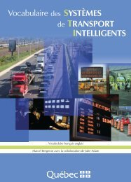 Vocabulaire des systèmes de transport intelligents - Office ...
