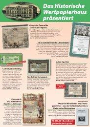 Spezial-Angebot Historische Wertpapiere #1 - HWPH AG