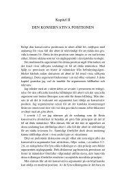 Kapitel II DEN KONSERVATIVA POSITIONEN