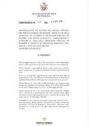 Ordinanza 347 - Porto di Venezia