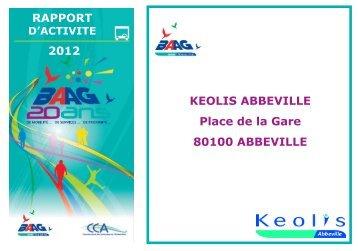 Rapport d'activité 2012 - Communauté de Communes de l'Abbevillois