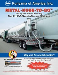 METAL-HOSE-TO-GO™ - Kuriyama of America, Inc.