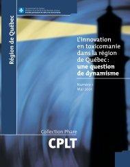 L'innovation en toxicomanie dans la région de Québec : une ...