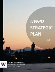 UWPD Strategic Plan 2012 - University of Washington