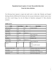 Form for data collection