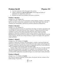Problem Set #5 Physics 151