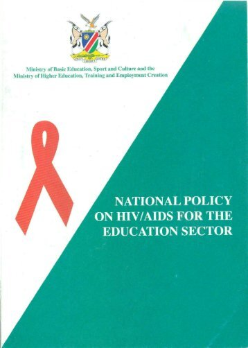 Namibia National Policy on HIV/AIDS for the Education Sector