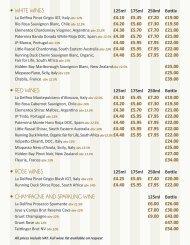 View the Lounge Bar's drinks menu - Strand Palace Hotel