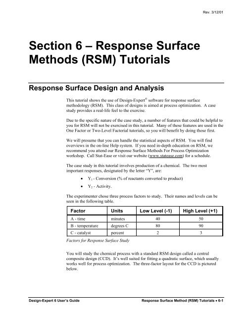 Design Expert 5 0 Reference Manual Statease Info