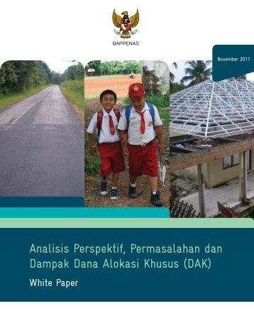 Analisis Perspektif, Permasalahan dan Dampak Dana Alokasi Khusus