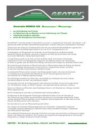 Geomatte WGW40-100 -Erosionsschutz ... - Geotex GmbH