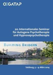 20. Internationales Seminar für Autogene Psychotherapie ... - ÖGATAP
