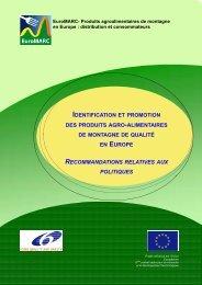 Recommandations politiques - Euromontana