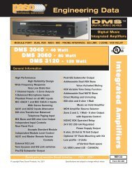 ED285 DMS Integra Amps.qxd - Paso Sound Products