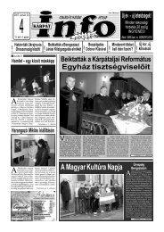 A Magyar Kultúra Napja - Kárpátinfo.net