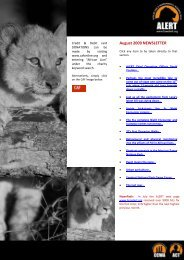 August 2009 NEWSLETTER - African Lion & Environmental ...