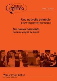 Une nouvelle stratégie Un nuevo concepto - Universal Edition