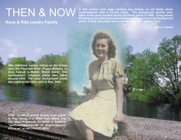 Then and Now (Rene & Rita Landry).indd