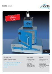 Product information LED Cube 100 - Dr. Hönle AG