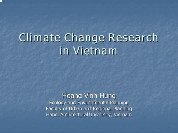 Climate Change Research in Vietnam - auedm