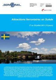 Attractions ferroviaires en Suède 17 au 29 juillet 2011 - SERVRail