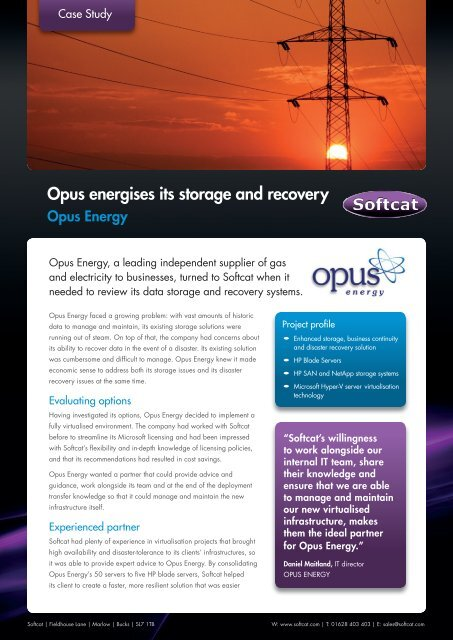 Opus - Case Study.indd - Softcat