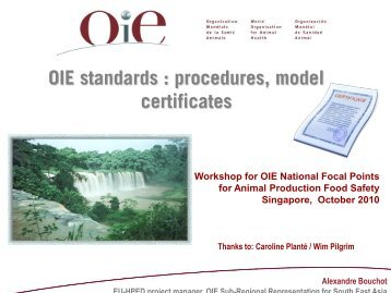 certification certificates - OIE Asia-Pacific