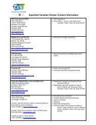 Important Contact Information - CES