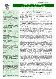 Mardi 27 septembre 2011 - Académie des sciences morales et ...