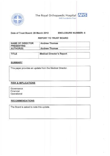 ROH board papers - Health Service Journal