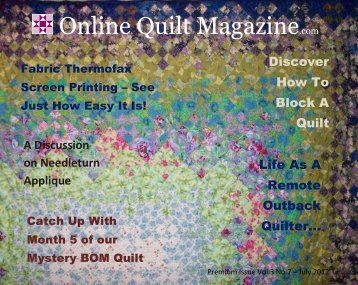 A Discussion on Needleturn Applique - Online Quilt Magazine.com