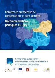 Conférence européenne de consensus sur le sans-abrisme ...
