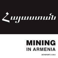 Mining in Armenia - Armenian Tree Project