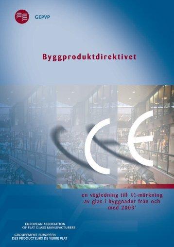Byggproduktdirektivet - Glass for Europe