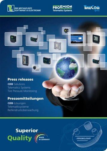RM Michaelides Press Kit / Pressemappe eCarTec 2011