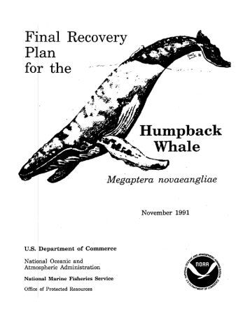 Recovery Plan for the Humpback Whale - National Marine Fisheries ...
