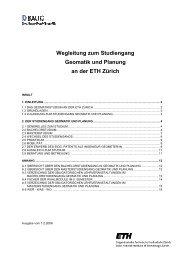 2. Der Studiengang Geomatik und Planung - Departement Bau ...