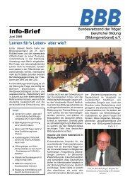 BBB-Info-Brief, Ausgabe 06/05 - Bildungsverband.info