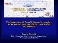 L'integrazione di flussi informativi sanitari per la valutazione del ...