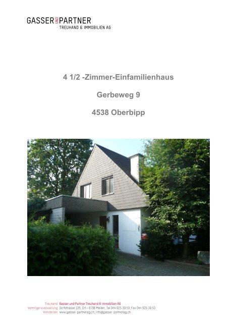 4 1/2 -Zimmer-Einfamilienhaus Gerbeweg 9 4538 ... - Homegate.ch