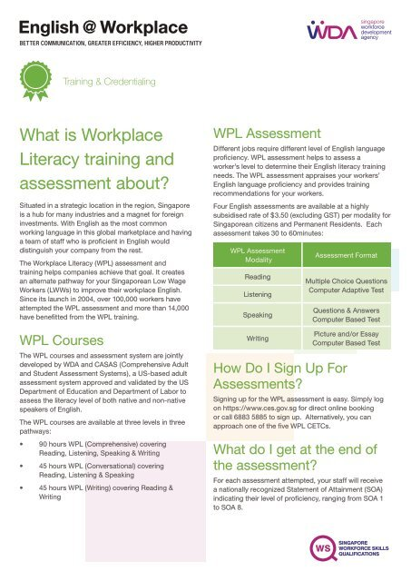 English @ Workplace - WDA