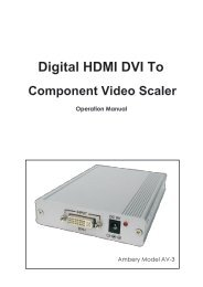 User Manual For Ambery DVI-D HDMI To Component Video Scaler