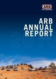 arb annual report
