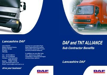 Lancs DAF - TNT Alliance