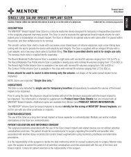 SINGLE USE SALINE BREAST IMPLANT SIZER - Mentor