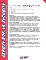 Les appareils de chauffage provisoires – types - Travail sécuritaire NB